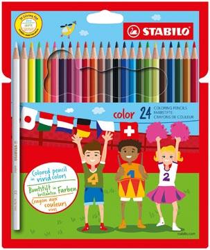 STABILO Color kleurpotlood, kartonnen etui van 24 stuks