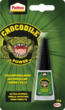 Pattex Crocodile Power secondelijm, tube van 10 gr, op blister