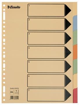 Esselte tabbladen voor ft A4 karton 7 tabs 23 perforatiegaten
