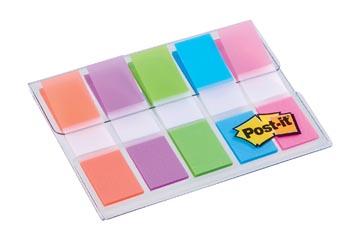 Post-it Index, ft 11,9X43,2 mm, blister met 5 kleuren, 20 tabs per kleur