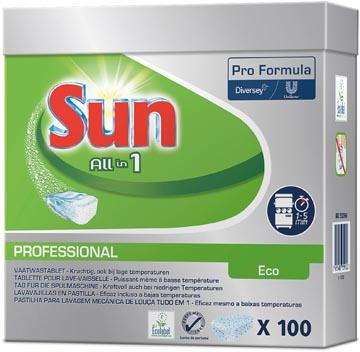 Sun vaatwastabletten All In 1 Eco, pak van 100 stuks
