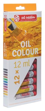 Talens Art Creation olieverf tube van 12 ml, set van 12 tubes in geassorteerde kleuren