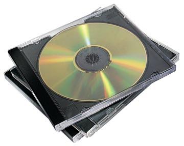 Fellowes CD/DVD-doosje Jewel Case, 10 stuks