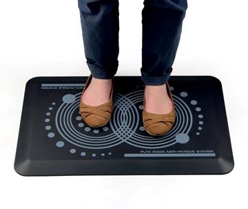 AFS-TEX antivermoeidheidsmat met ergonomische print, met anti-microbieel middel, ft 60 x 40 cm