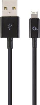 Cablexpert oplaad- en gegevenskabel, USB 2.0-stekker naar 8-pin stekker, 1 m, zwart