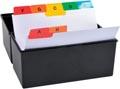 Exacompta tabbladen voor systeemkaartenbakken, 25 tabs, ft A7