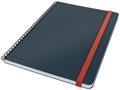Leitz Cosy notitieboek met spiraalbinding, voor ft B5, gelijnd, grijs