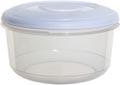 Whitefurze vershouddoos rond 0,5 liter, transparant met wit deksel
